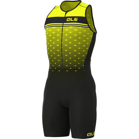 Alé Cycling Stars SL Triathlon Skinsuit Long Men, fluo yellow/black